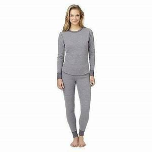 Warm Essentials By Cuddl Dud Women's Waffle Therm Crew