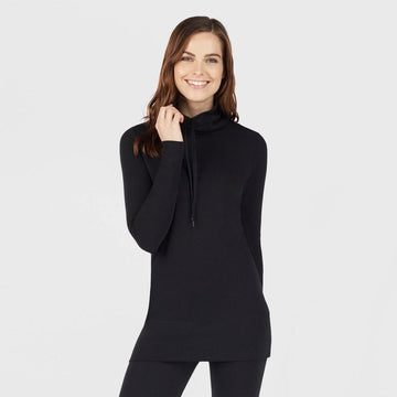 Warm Essentials by Cuddl Duds Women's Everyday Comfort Funnel Neck Thermal Top