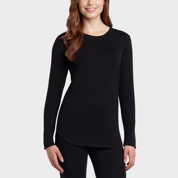 Warm Essentials by Cuddl Duds Women's Everyday Comfort Scoop Neck Thermal Top