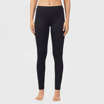 Warm Essentials by Cuddl Duds Women's Luxe Lined Jersey Thermal Pants - Black