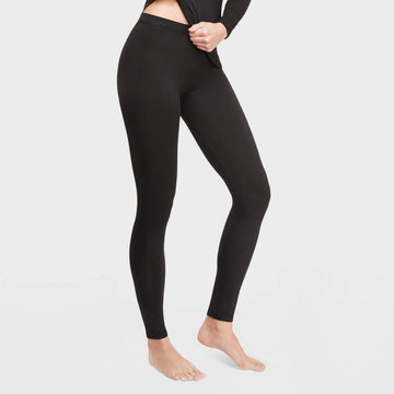 Warm Essentials by Cuddl Duds Women's Smooth Stretch Thermal Pants - Black