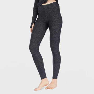 Warm Essentials by Cuddl Duds Women's Sweater Knit Thermal Leggings - Dark Charcoal