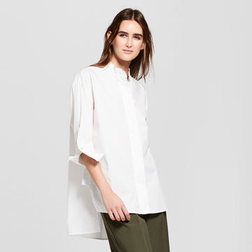 Women's 3/4 Sleeve Oversized Tunic - Who What Wear - Bright White