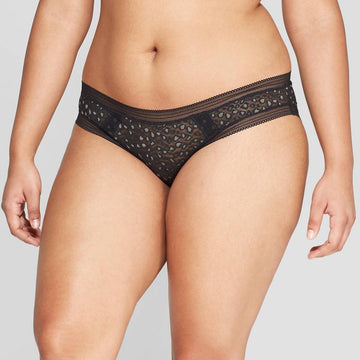 Women's All Over Lace Bikini - Auden Black/Dark Gray