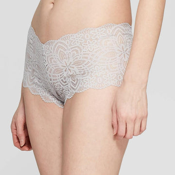 Women's All Over Lace Cheeky - Auden Light Gray