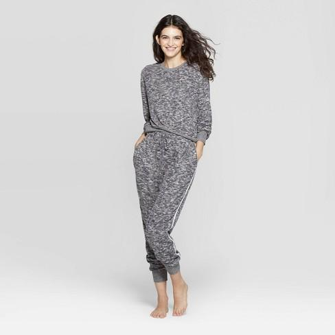 Women's Colsie Cozy Lounge Top - Charcoal