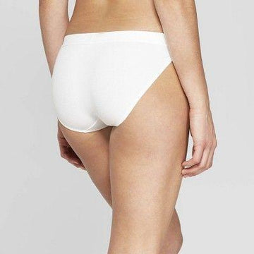 Women's Cotton Ribbed Boyshort - Auden Fresh White