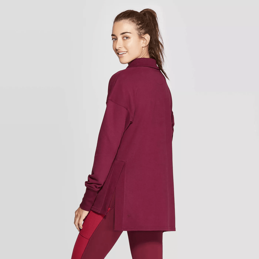 Women's French Terry Tunic Pullover - C9 Champion - Berry