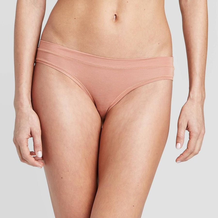 Women's Modal Briefs with Mesh Waistband - Auden Casual Pink