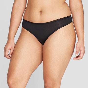 Women's Modal Thong with Mesh Waistband - Auden Black