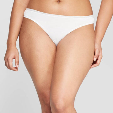 Women's Modal Thong with Mesh Waistband - Auden Fresh White