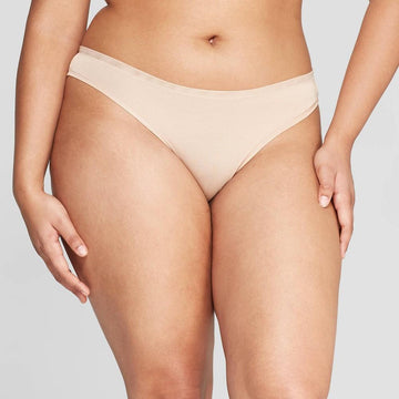 Women's Modal Thong with Mesh Waistband - Auden Pearl Tan