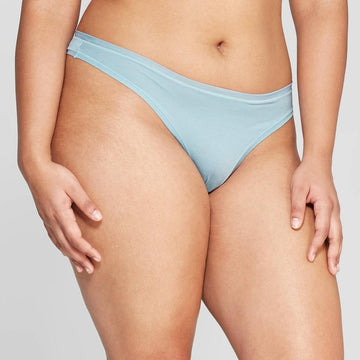 Women's Modal Thong with Mesh Waistband - Auden Reflecting Aqua
