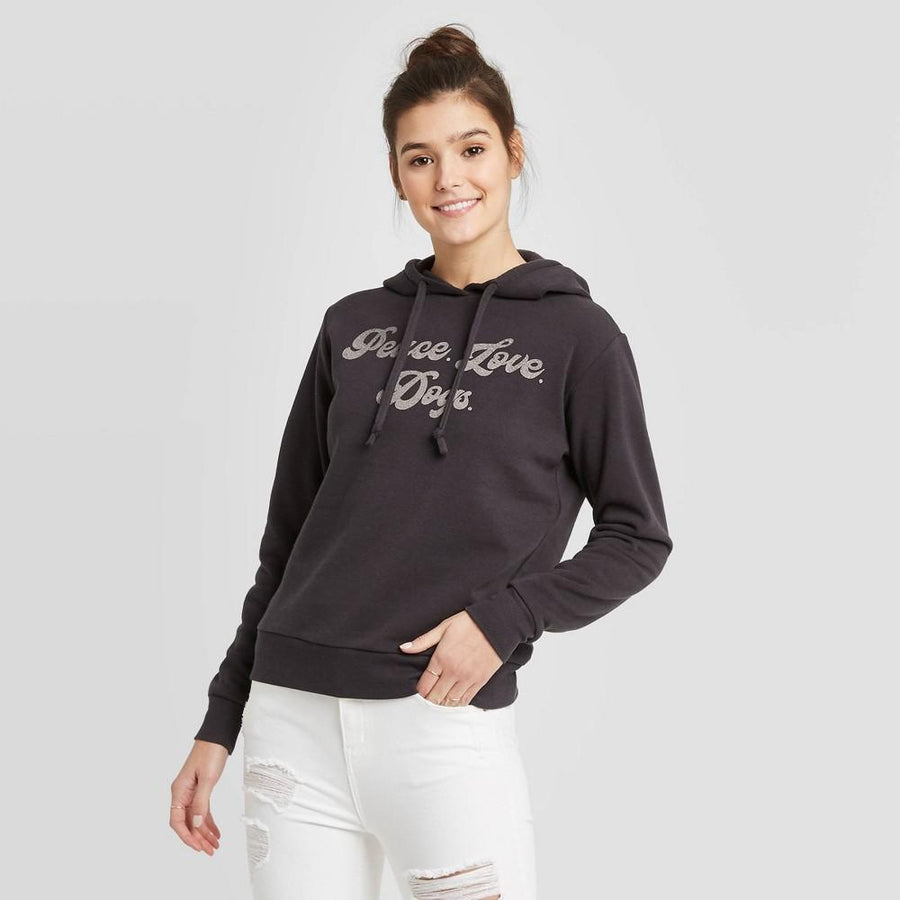Women's Peace Love Dogs Hoodie Sweatshirt - Fifth Sun (Juniors')