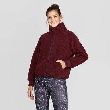 Women's Sherpa Full Zip Jacket - JoyLab - Port Royale