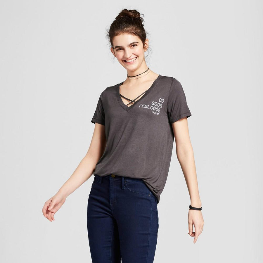 Women's Do Good. Feel Good Short Sleeve Criss-Cross