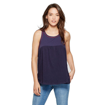 Women's Embroidered Knit Top - Universal Thread - Blue