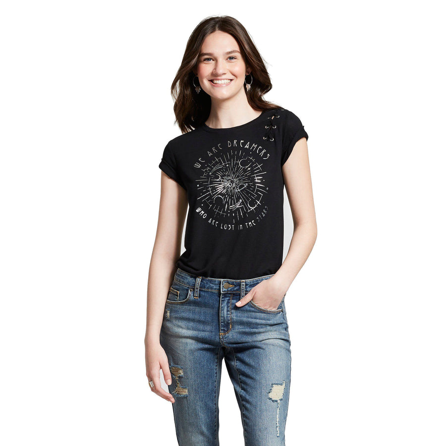 Modern Lux Women's Short Sleeve Dreamers Lost In The Stars (Juniors')