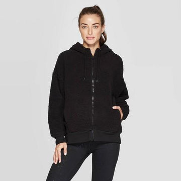 Women's Training Sherpa Fleece Full Zip Track Jacket - C9 Champion