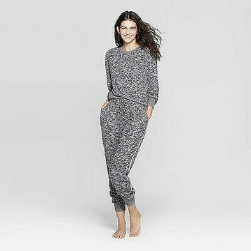 Womens Colsie Cozy Lounge Top Charcoal