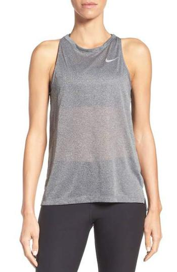 Nike Breathe Cut-Out Back Tank Top Anthracite