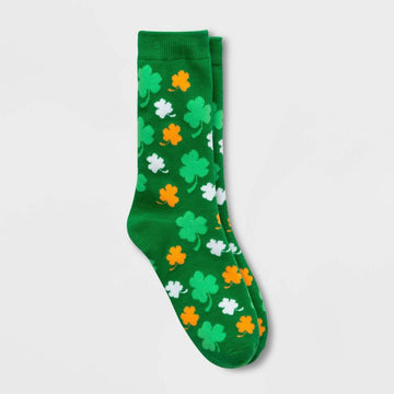 Women's Shamrock St. Patrick's Day Crew Socks