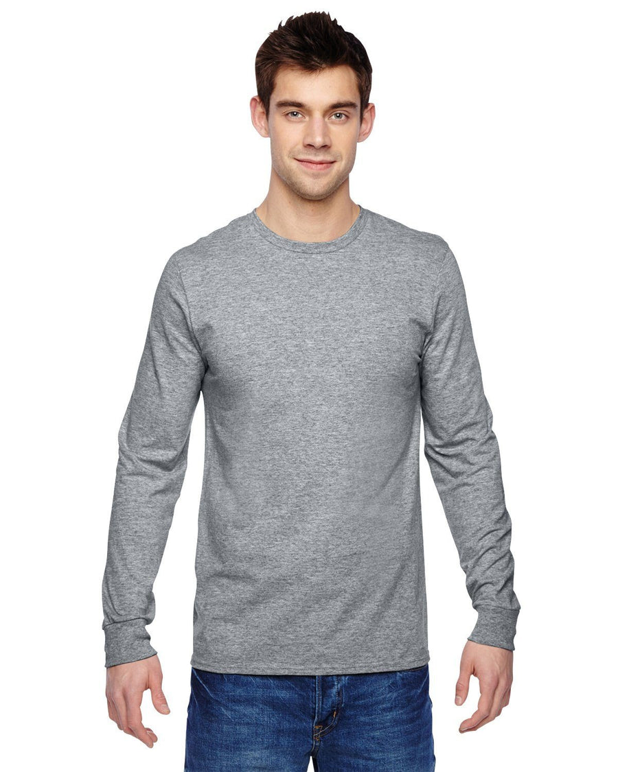 Fruit of the Loom Men's Long Sleeve T-Shirt - Athletic Heather