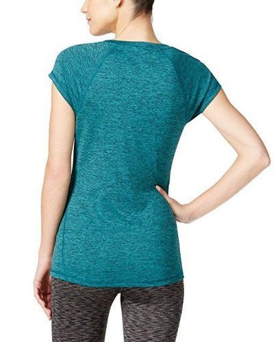 Ideology Heathered Short-Sleeve Tee Moonlit Teal