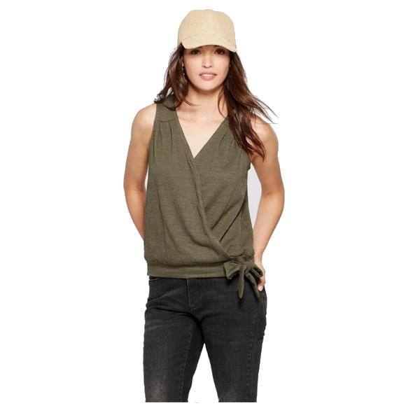 Women's Wrap Front Knot Blouse - Universal Thread - Olive