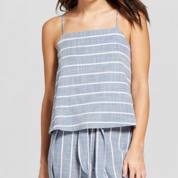 Tulip Back Striped Chambray Tank - Universal Thread