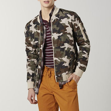 Jaywalker Men's Camo Bomber Jacket