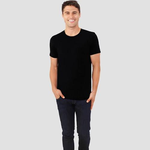 Fruit of the Loom Select Men's Black Short Sleeve Tee