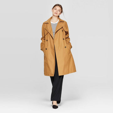 Women's Trench Coat - A New Day Khaki (Green)