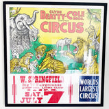 Vintage Clyde Beatty Cole Circus Poster
