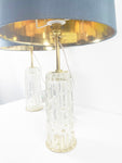 Pair of SKLO Maze Table Lamps, mid century