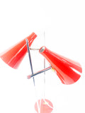 Pair red Hurka L117 T Lamps