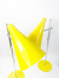 Pair of Yellow Hurka Anglepoise L194 lamps