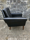 Danish mid century leather club chair