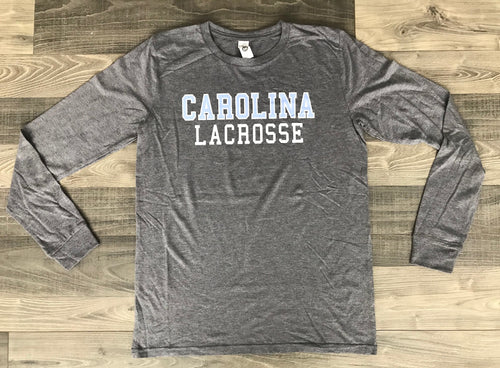 Carolina Lacrosse Tri-Blend Super Soft Long Sleeve Shirt