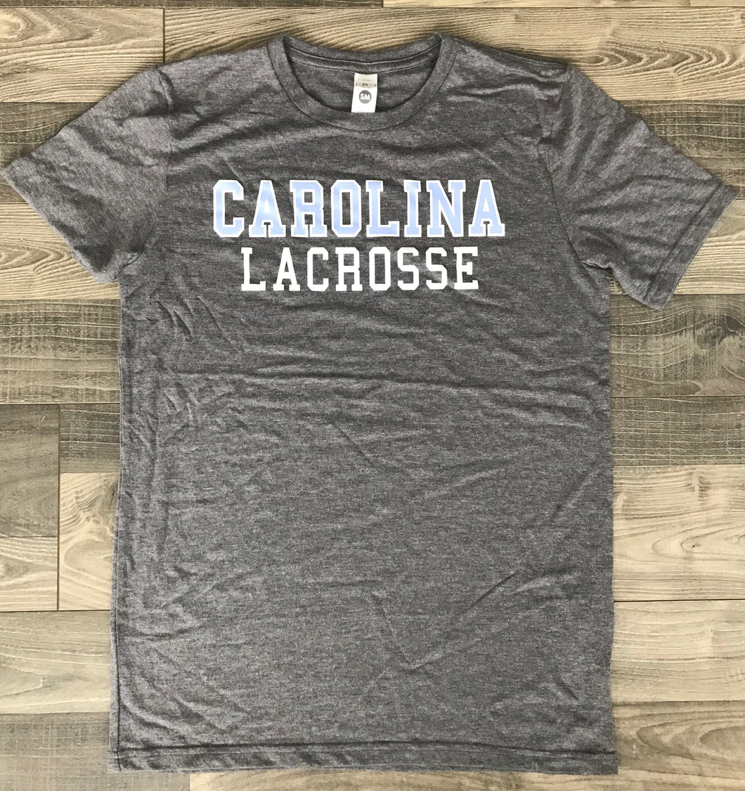 Carolina Lacrosse Tri-blend Super Soft Short sleeve shirt