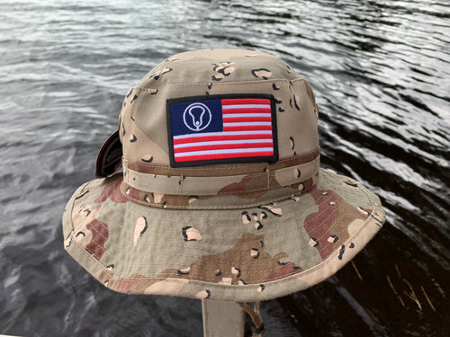 OTC Lacrosse Flag Bucket Hat camo
