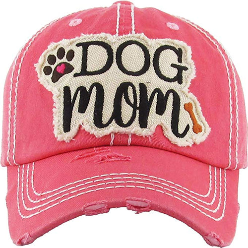 Adjustable Ladies Womens Dog Mom Bone Puppy Paw Cap Hat