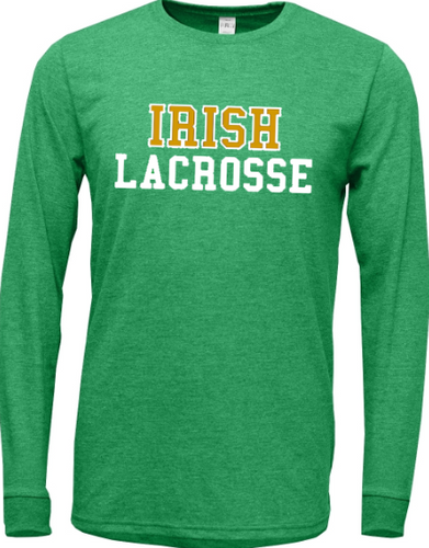 Irish Lacrosse Tri-blend Super Soft Long Sleeve T-Shirt
