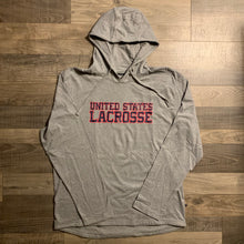 Load image into Gallery viewer, United States Lacrosse Long Sleeve Hooded T-Shirt
