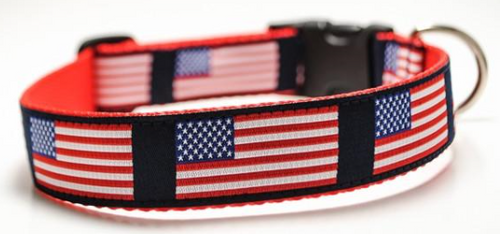 USA Flag Dog Collar