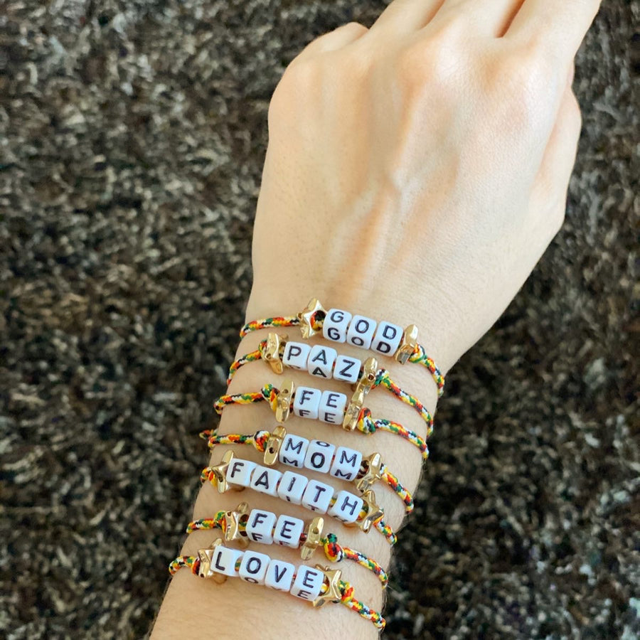 BRACELETS WITH WORDS