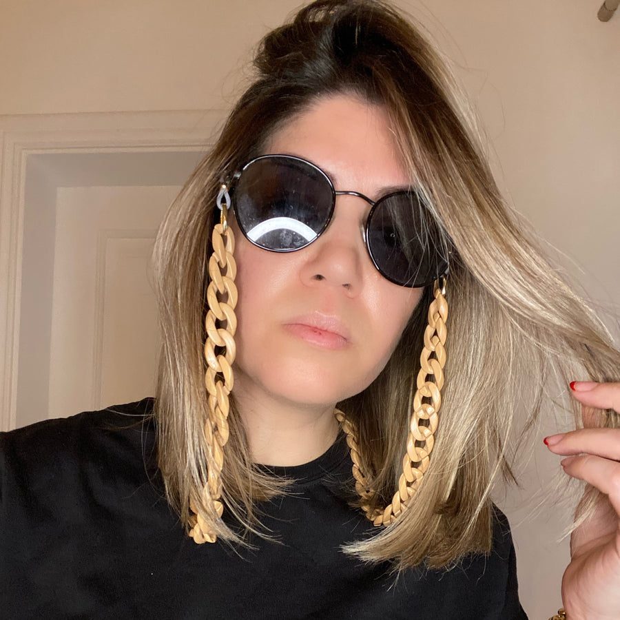 NUDE CHAIN FOR MASK OR SUNGLASSES