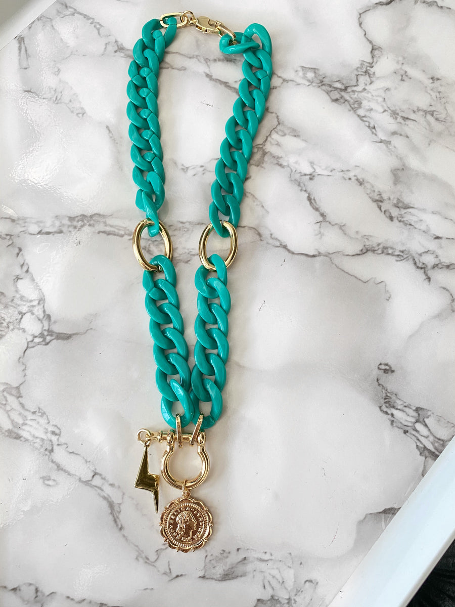Funky Mint Necklace