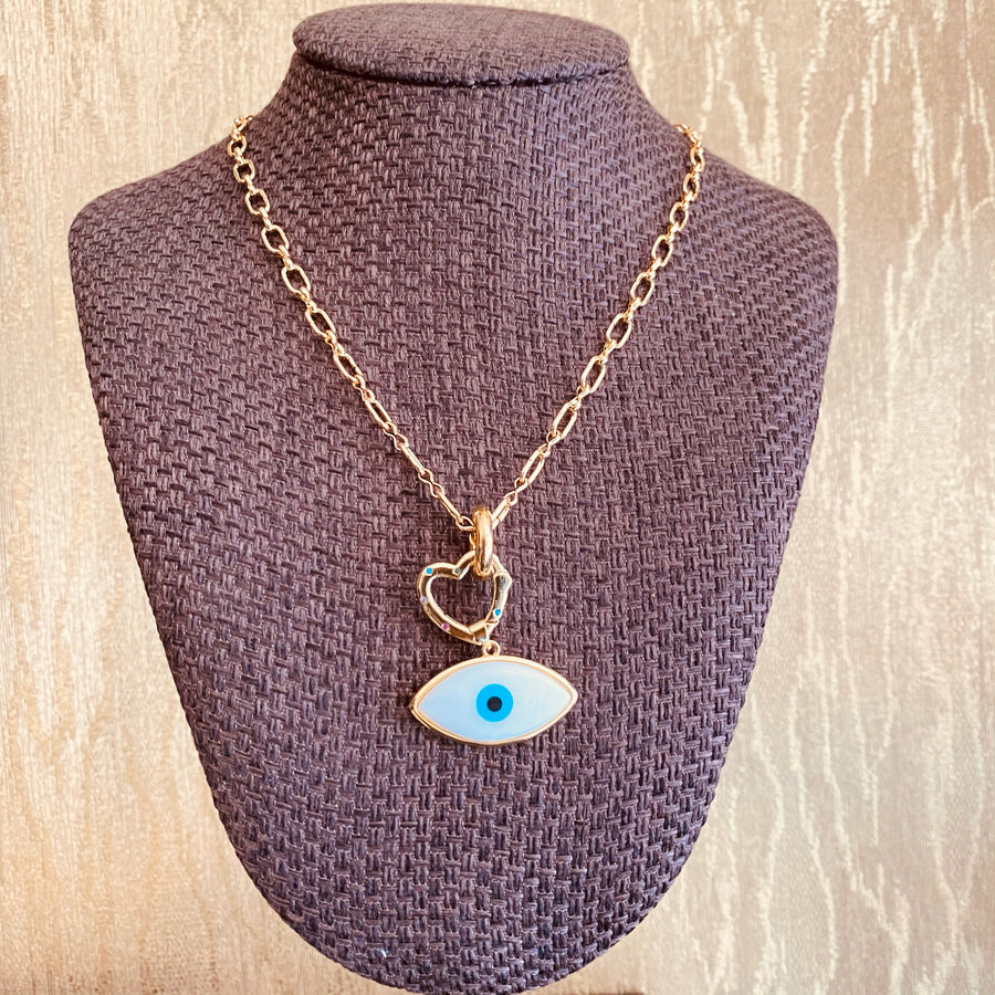 OVAL EYE NECKLACE