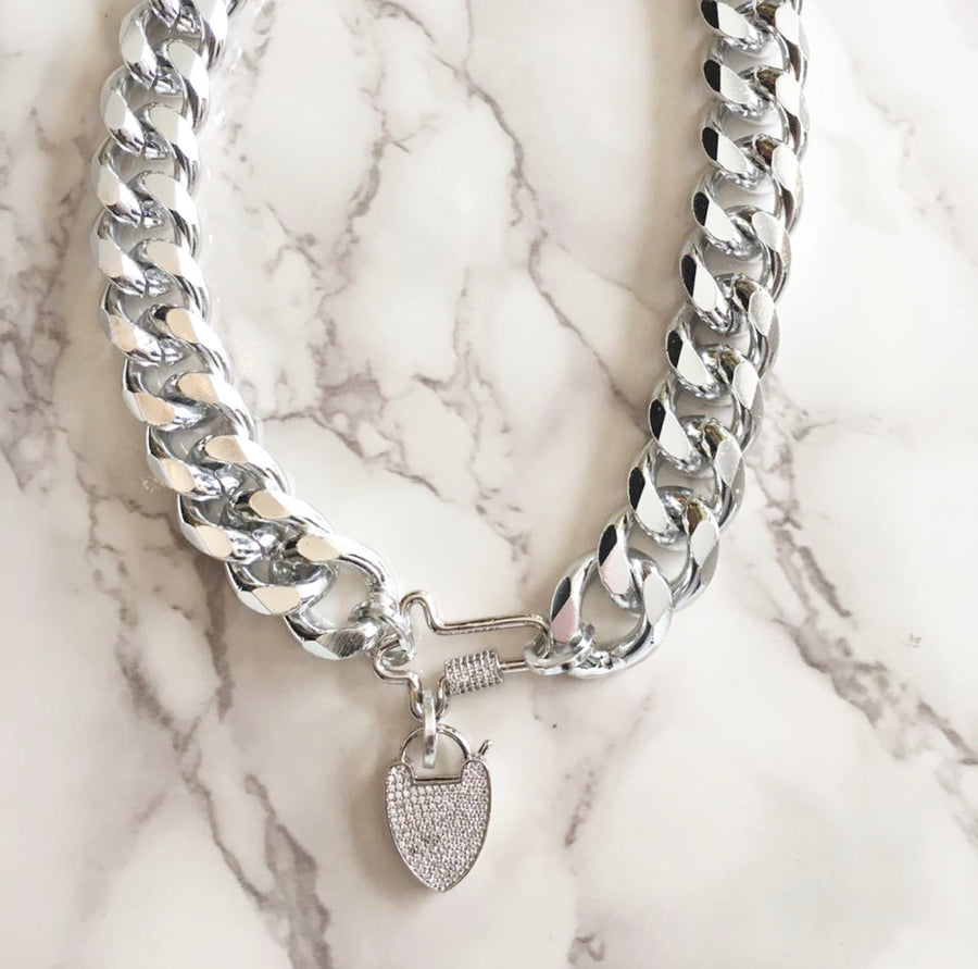 SILVER CHUNKY NECKLACE